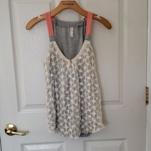 BUY 1 GET 1 FREE GRAY AND CREAM DETAILED TANK TOP